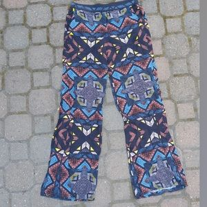 ella moss tribal print pull on pants lightweight